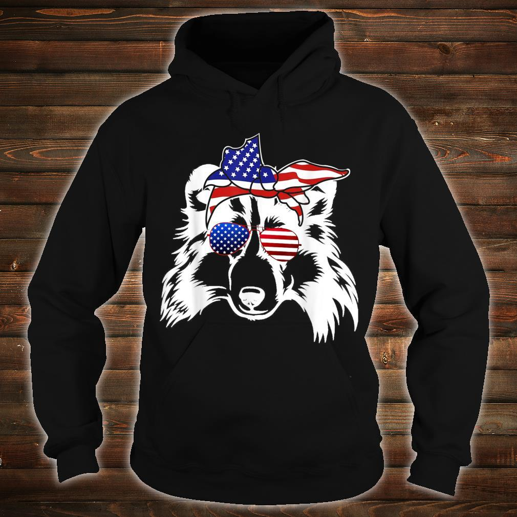Shetland Sheepdog America Flag 4th Of July Independence Day Shirt hoodie