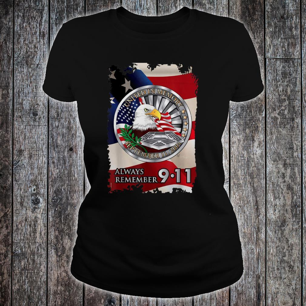 We Will Always Remember Patriot Day American Flag Shirt ladies tee